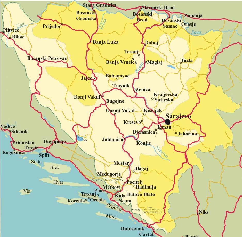 bosznia hercegovina térkép Tesanj, Jajce, Travnik, Banja Vrucica   Bosznia Hercegovina   2004 bosznia hercegovina térkép