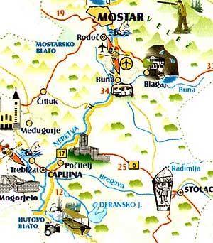 nizza látnivalók térkép Győrffy Árpád: Mostar, Blagaj, Pocitelj, Radimlja, Hutovo Blato