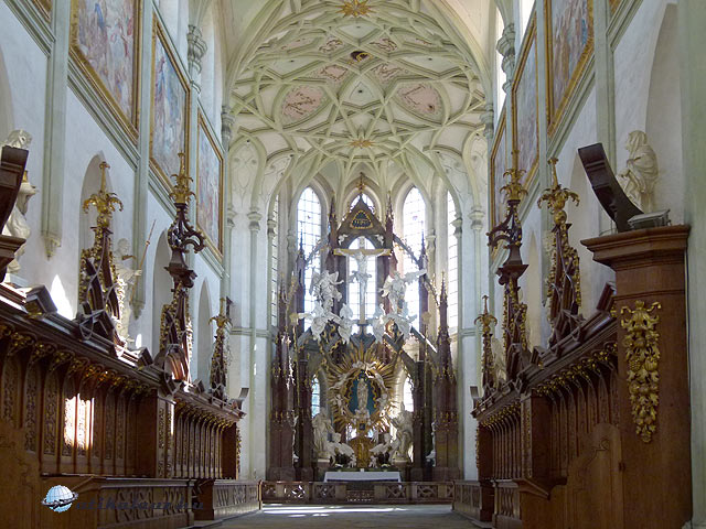 Kladruby bencés kolostor templom főhajó
