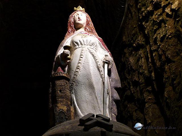 Planá Szent Borbála (Barbara), a bányászok (kohászok, tüzérek, tűzszerészek, ágyú- és harangöntők) védőszentje