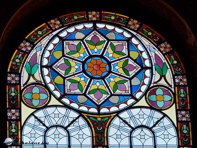 Pilsen Nagyzsinagóga ablak