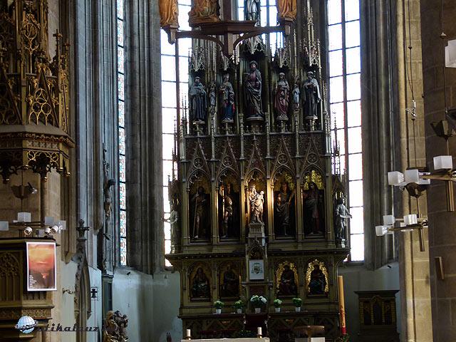 Pilsen Szent Bertalan templom oltár