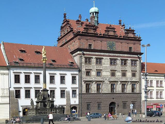 Pilsen főtér városháza