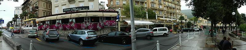 Opatia főutca panorámakép