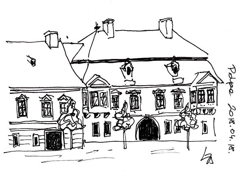 A Zichy-ház a Fő tér és a Corvin utca találkozásánál