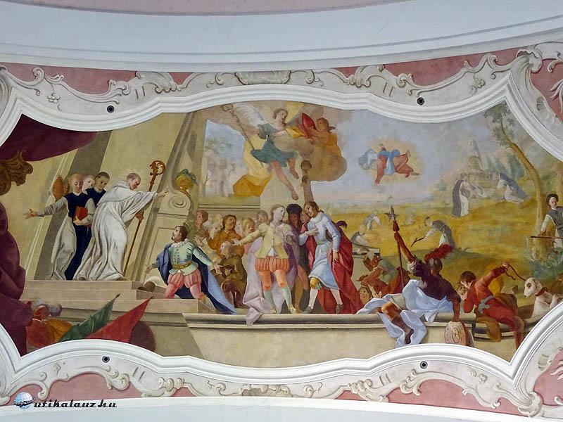 Zirc, templombelső - Ezt is Maulbertsch festette