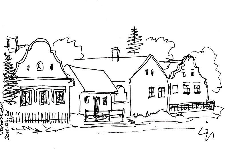 Városlőd - Tornácos házak a Fő utcán