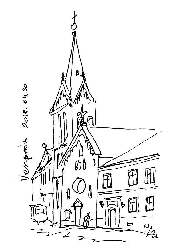 Veszprém - Bencések temploma