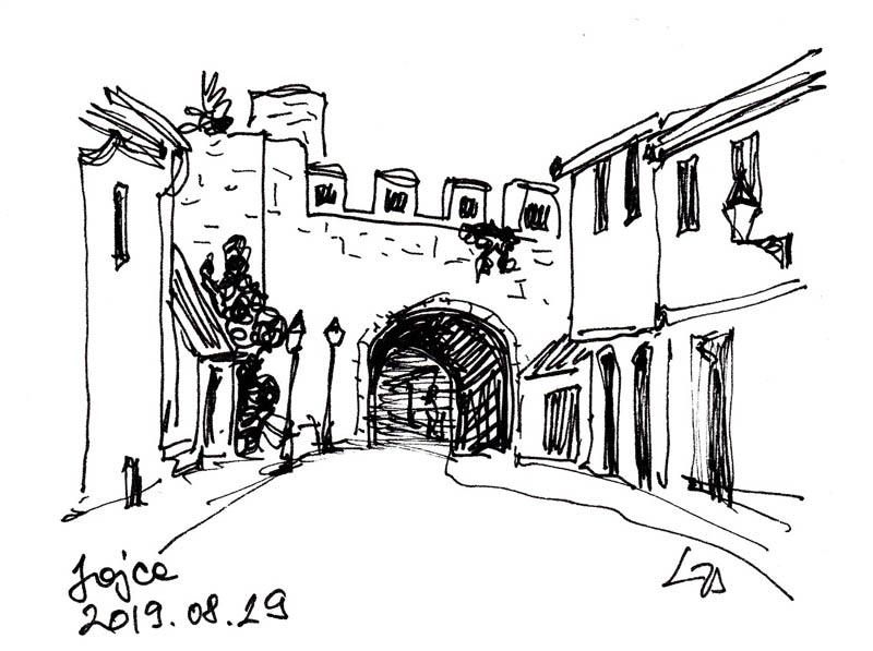 Kapu a városfalon Jajcéban
