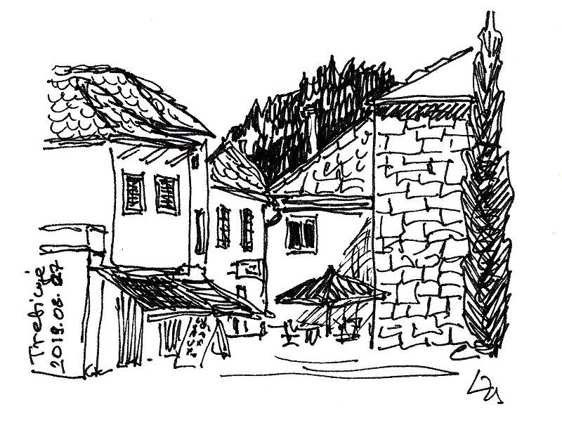 Jellegzetes házak Trebinje óvárosában